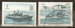 Turquie Turkey 1973 Bateaux De Guerre Warships - 1921-... République