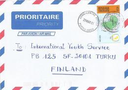 Togo 2001 Lome Centre Tri2 Peace 425f Cover - Togo (1960-...)