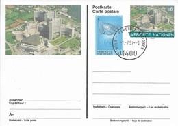Onu, United Nations, Nations Unies, Bureau De Vienne, Entier Postal 1993,  , Oblitéré En 1997 - Centre International De Vienne