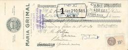 AVEYRON 12  -  ROQUEFORT - ROQUEFORT SURCHOIX MARIA GRIMAL - 1930 - LITOGRAPHIE - C.L ALBI / LIBOURNE - Lettres De Change