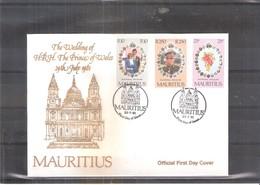 FDC Mauritius - Royal Wedding - Complete Set - Maurice (1968-...)