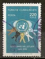 Turquie Turkey 1970 ONU UNO Obl - 1921-... République