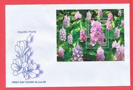 TIMBRE - CAMBODGE - Enveloppe Aquatic Plants - Cambodge