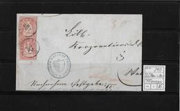 1854-1862 SITZENDE HELVETIA Ungezähnt (Strubel)  → Gerichts-Kanzlei Triengen ►SBK-2x 24D/B3◄ - Lettres & Documents