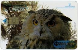 RUSSIA - RUSSIE - RUSSLAND EKATERINBURG URALSVYAZINFORM 150 UNITS CHIP PHONECARD TRANSPARENT OWL BUBO BUBO PERFECT - Russia