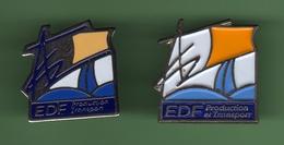 EDF *** PRODUCTION ET TRANSPORT *** Lot De 2 Pin's Differents *** EDF-03 - EDF GDF