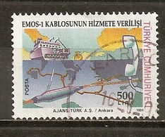 Turquie Turkey 1991 Communication Optic Fibre Cable Obl - 1921-... République