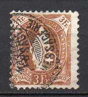 1882 Svizzera Helvetia In Piedi Unificato N. 80  3 F Bistro Timbrato Used - Usati