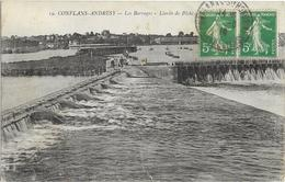Conflans Saint Honorine Les Barrages Limite De Peche - Conflans Saint Honorine