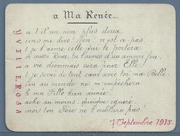 CARTE D'AMOUR D'UN PÈRE A SA FILLE : A MA RENÉE - Manuscrits