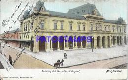 104654 URUGUAY MONTEVIDEO ESTACION DE TREN STATION TRAIN CENTRAL YEAR 1908 ED CARLUCCIO POSTAL POSTCARD - Uruguay