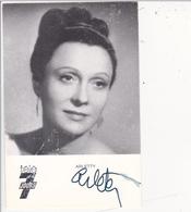 Autographe Original Au Feutre Signature Real Signature ARLETTY Actrice Comédienne Cinéma - Autographes