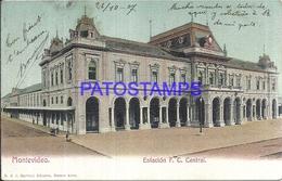 104656 URUGUAY MONTEVIDEO ESTACION DE TREN STATION TRAIN YEAR 1907 CIRCULATED TO ARGENTINA POSTAL POSTCARD - Uruguay