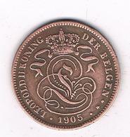 2 CENTIMES 1905 VL   BELGIE/8456/ - 1865-1909: Leopold II
