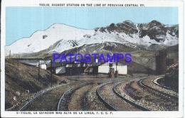 104657 PERU TIGLIO ESTACION DE TREN STATION TRAIN  POSTAL POSTCARD - Peru