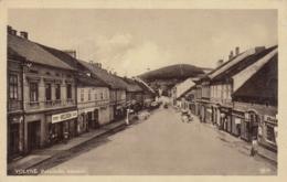 AK - VOLYNE (Wolin) - Hauptstrasse Mit Bürgerhäusern Und Geschäften 1926 - Tschechische Republik