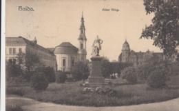 AK - HAIDA (Novy Bor) - Blick Zum Marktplatz Mit Postgebäude Und Schule 1916 - Tschechische Republik