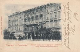 AK - PRESSBURG (Pozsony - Bratislava) - Hotel National U. Hotel Palugyay 1904 - Slowakei