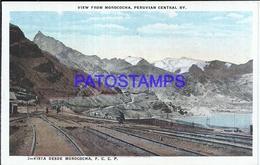 104659 PERU MOROCOCHA VIEW PARTIAL RAILROAD POSTAL POSTCARD - Peru