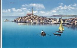 AK -  ROVIGNO (Rovinj) - Blick Auf Die Halbinsel Und Zum Hafen Fahrenden Booten 1910 - Croatie