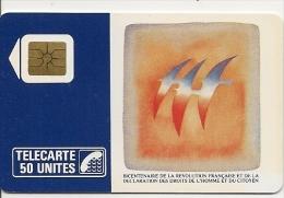 CARTE-PUBLIC-01/89-SO2-50U-FOLON-OISEAUX Du BICENTENAIRE-V° 4 Pe 2021-UTILISEE-TB E- - France