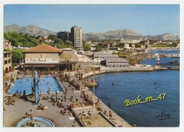 {73053} 13 Bouches Du Rhône Marseille , Promenade De La Corniche , Le Palm Beach ; Animée , Piscine - Autres