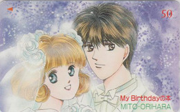 Télécarte Japon / 110-011 - MANGA - MY BIRTHDAY - ANIME Japan Phonecard - BD COMICS TK - 10906 - Comics