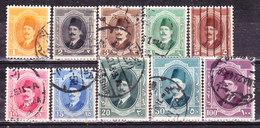 Egitto 1923- Re Fouad I° Serie Non Completa Usata - Egypt