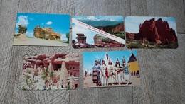 Lot 5 Cartes Colorado Indians Balanced Rock - Indiens De L'Amerique Du Nord