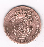 2 CENTIMES 1864   BELGIE/8460/ - 1831-1865: Léopold I