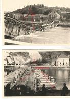 WW2 2x PHOTO ORIGINALE Soldats Allemands Traversée MEUSE MAAS à MONTHERME Charleville Mézières 1940 ARDENNES 08 - 1939-45