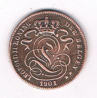 1 CENTIM 1901 VL    BELGIE/8461/ - 1865-1909: Leopold II