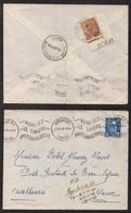 CASABLANCA - MAROC / 1954 - LETTRE D'AURILLAC - TAXE DE POSTE RESTANTE DE CASABLANCA (ref LE2813) - Marcofilie (Brieven)