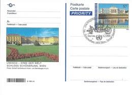 Onu, United Nations, Nations Unies, Bureau De Vienne, Entier Postal 1999, Fdc, Château De Schönbrunn - Centre International De Vienne