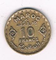 10 FRANCS 1952  MAROKKO /8462/ - Maroc
