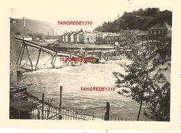 WW2 PHOTO ORIGINALE ALLEMANDE Pont Ko Sur La MEUSE MAAS à MONTHERME Charleville Mézières 1940 ARDENNES 08 - 1939-45