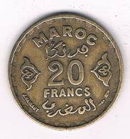 20 FRANCS 1952  MAROKKO /8463/ - Maroc
