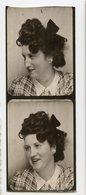 Photomaton Jeune Femme Young Woman Photobooth Profil Profile Photo Id Identité  Portrait 30s 40s Hair Cheveux Coiffure - Personnes Anonymes
