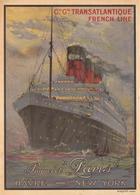 """France Navigation Postcard C.G.T. French Line Paquebot """"Paris"""" 1925 - Reproduction - Pubblicitari"""