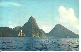 L 386 - Sainte Lucie - St Lucia - The Piton Soufriere - Postcards