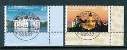 GERMANY Mi. Nr. 2972-2973 Burgen Und Schlösser - ET Weiden - Eckrand Unten Rechts - Used - [7] République Fédérale