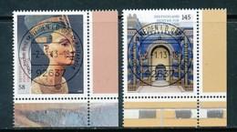 GERMANY Mi. Nr. 2975-2976 Schätze Aus Deutschen Museen - ET Weiden - Eckrand Unten Rechts - Used - [7] République Fédérale