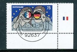 GERMANY Mi. Nr. 2977 50 Jahre Elysée-Vertrag - ET Weiden - Eckrand Unten Rechts - Used - [7] République Fédérale