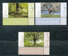 GERMANY Mi. Nr. 2980-2982 Wohlfahrt: Blühende Bäume - ET Weiden - Eckrand Unten Rechts - Used - [7] République Fédérale