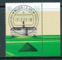GERMANY Mi. Nr. 2985 250 Jahre Frieden Von Hubertusburg - ET Weiden - Eckrand Unten Rechts - Used - [7] République Fédérale