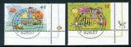 GERMANY Mi. Nr. 2992-2993 Janosch-Zeichnungen. - ET Weiden - Eckrand Unten Rechts - Used - [7] République Fédérale