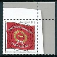GERMANY Mi. Nr. 2997 150 Jahre Allgemeiner Deutscher Arbeiterverein - ET Weiden - Eckrand Oben Rechts - Used - [7] République Fédérale