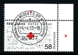 GERMANY Mi. Nr. 2998 150 Jahre Rotes Kreuz - ET Weiden - Eckrand Oben Rechts - Used - [7] République Fédérale