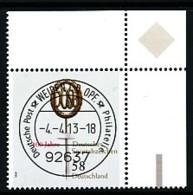 GERMANY Mi. Nr. 2999 100 Jahre Deutsches Sportabzeichen - ET Weiden - Eckrand Oben Rechts - Used - [7] République Fédérale