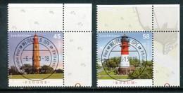 GERMANY Mi. Nr. 3010-3011  Leuchttürme - ET Weiden - Eckrand Oben Rechts - Used - [7] République Fédérale
